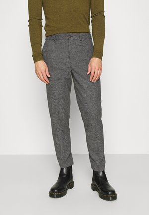 SLHSLIMTAPERED THEO PANTS - Broek - grey/houndstooth