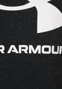 Under Armour - RIVAL LOGO HOODIE - Hoodie - black/white - 2