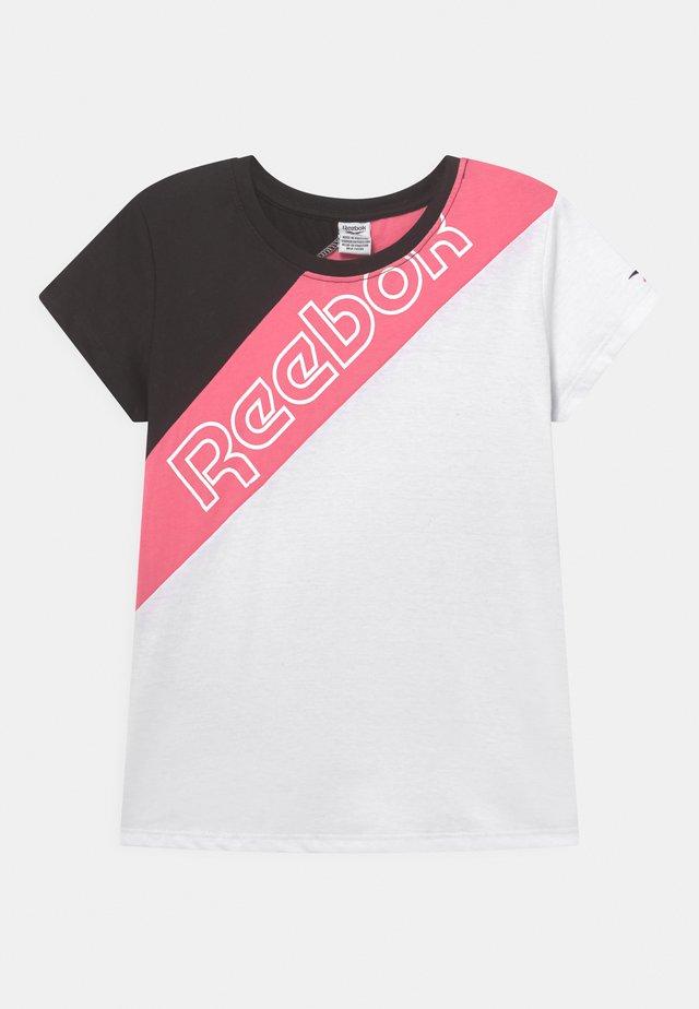 REEBOK DIAGONAL TEE - T-shirt print - black/white