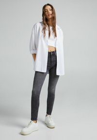 Bershka - Jeans Skinny Fit - dark grey - 1