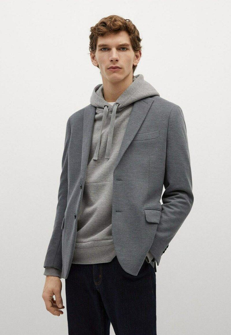 Mango - Blazer jacket - šedá