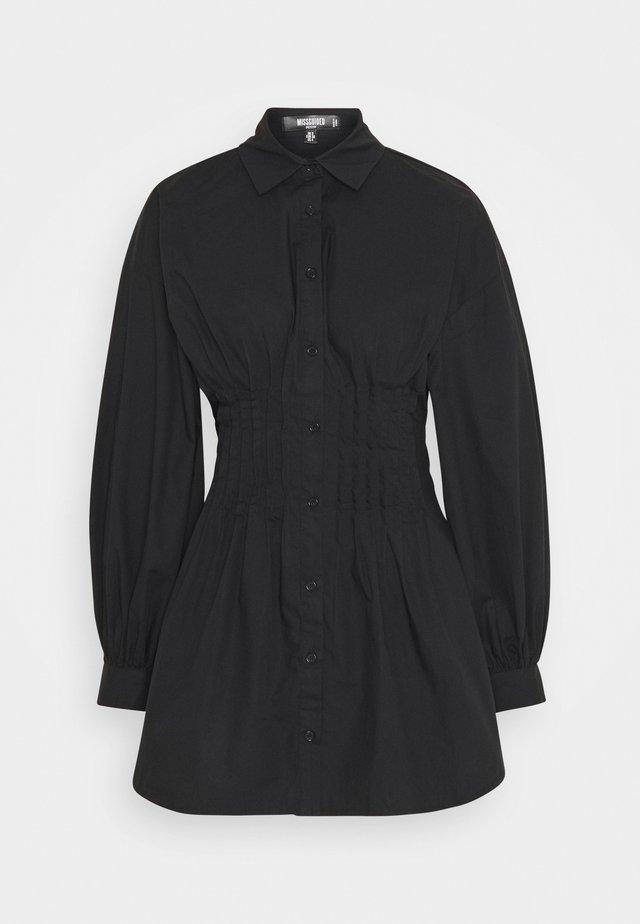 CINCHED WAIST DRESS - Robe d'été - black