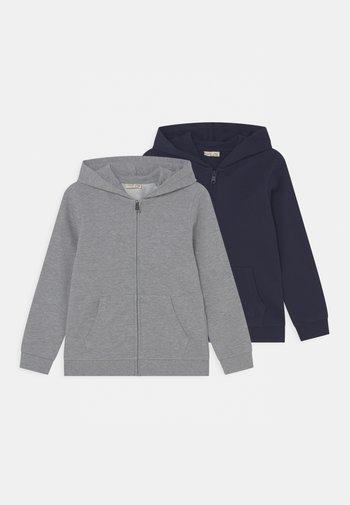 KID FULL ZIP 2 PACK - Zip-up sweatshirt - navy blazer/lilac hint