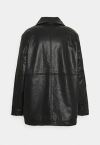 Weekday - UNISEX NELSON COAT - Faux leather jacket - black - 1