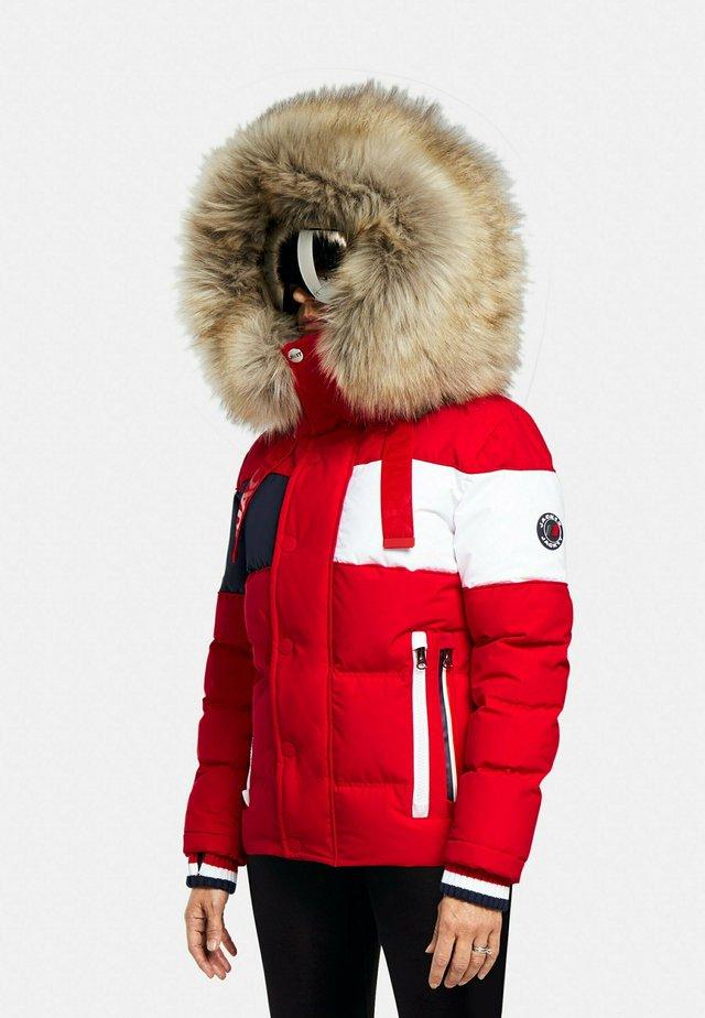 STREET  - Gewatteerde jas - red/white/navy