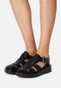ARKET - FLAT SANDALS - Platform sandals - black - 0