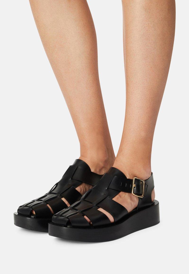 ARKET - FLAT SANDALS - Platform sandals - black