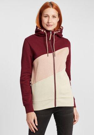 AGGI - Zip-up hoodie - wine red
