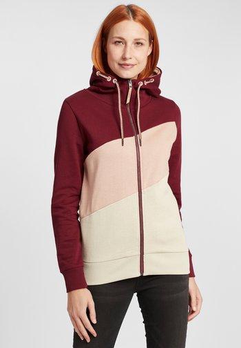 AGGI - Zip-up sweatshirt - wine red