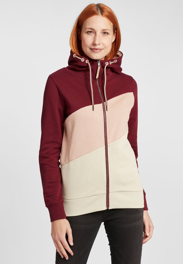 AGGI - Zip-up hoodie - wine red