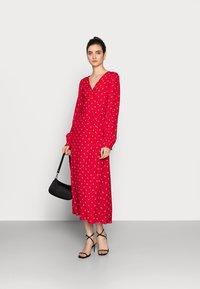 Gap Tall - WRAP DRESS - Korte jurk - red - 1