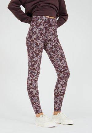 Leggings - Trousers - aubergine