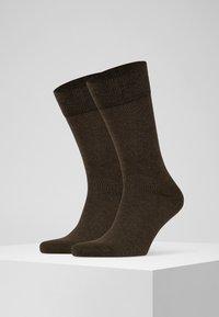 FALKE - HAPPY 2-PACK - Socks - brown - 1