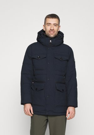 REMOVABLE HOODED - Parka - blue