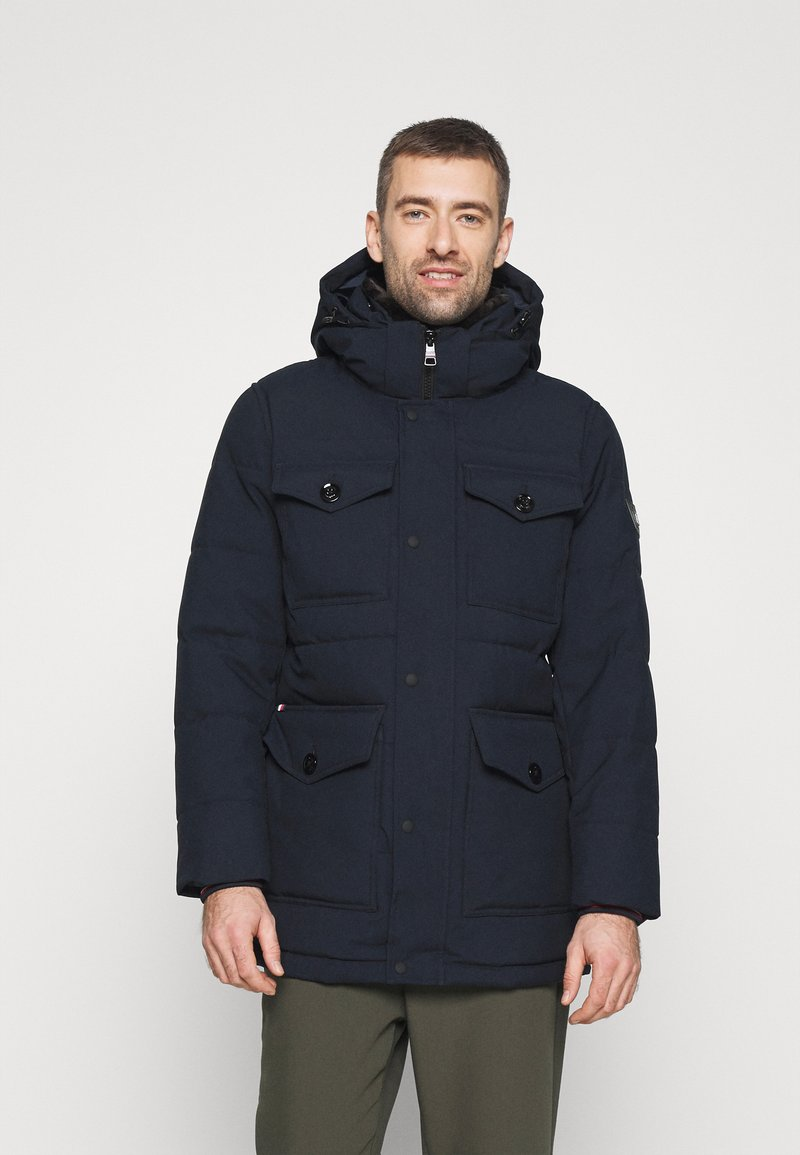 Tommy Hilfiger - REMOVABLE HOODED - Parkatakki - blue