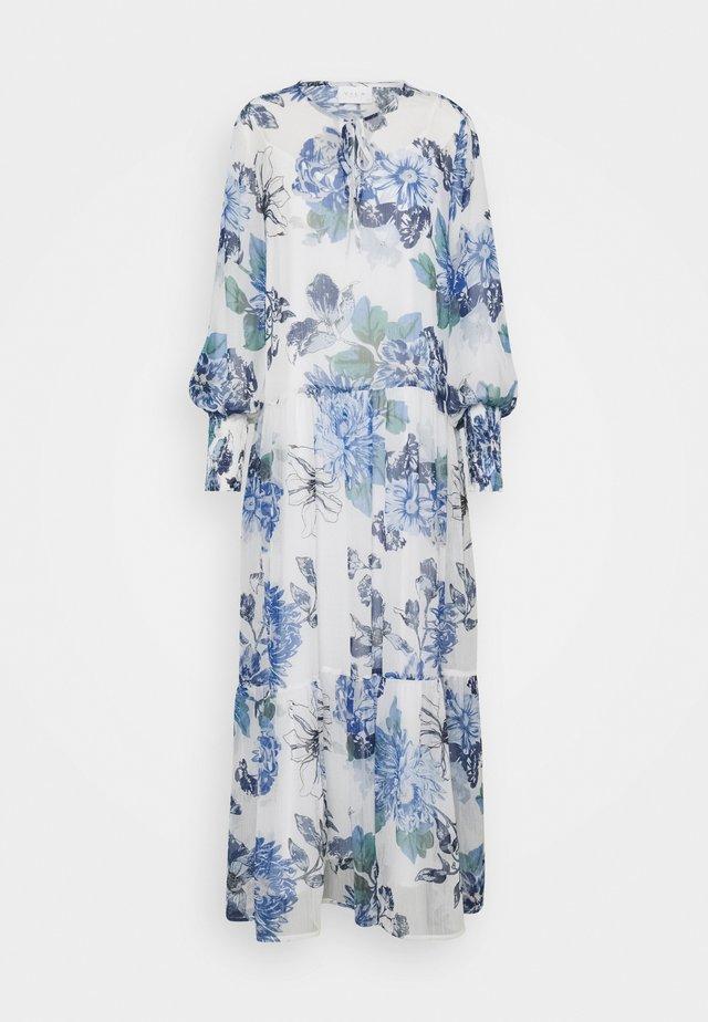 VIVIOLA O-NECK ANKLE  DRESS - Vestito elegante - cloud dancer/blue