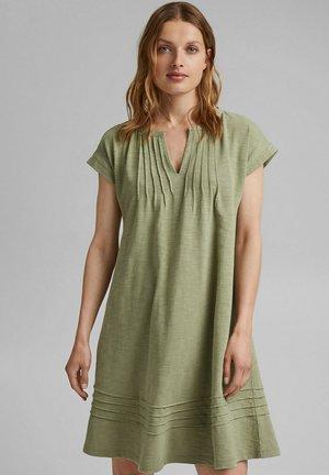 Jersey dress - light khaki