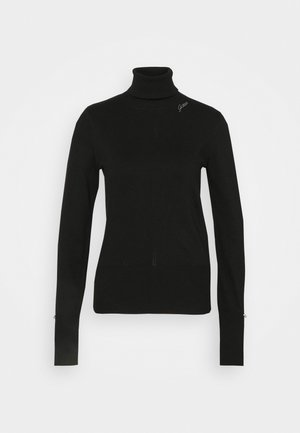 ALBA TURTLE NECK - Strikkegenser - jet black
