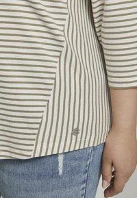 MY TRUE ME TOM TAILOR - Long sleeved top - khaki ecru horizontal stripe - 4