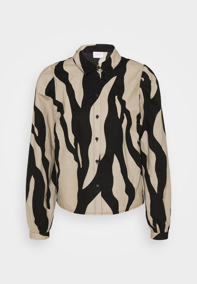 VIGAMINA - Button-down blouse - humus