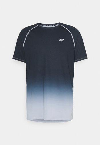 Men's training T-shirt - Triko spotiskem - black