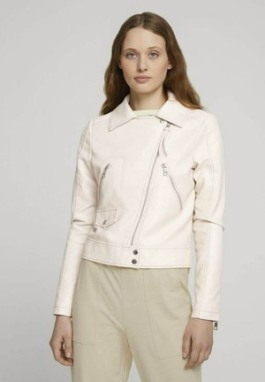 Faux leather jacket - light beige