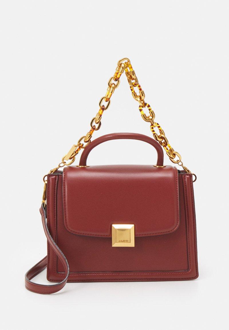 ALDO - ONERRADDA - Handbag - red dahlia/chocolate/gold-coloured