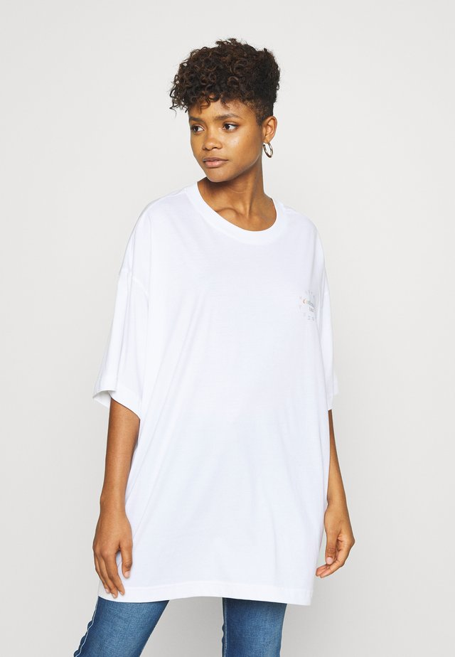 HUGE DRESS - Jersey dress - white