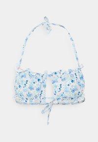 Cotton On Body - GATHERED BACKLESS BANDEAU GATHERED BUM FULL - Bikiny - light blue - 2