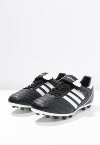 adidas Performance - KAISER 5 LEATHER FOOTBALL BOOTS FIRM GROUND - Voetbalschoenen met kunststof noppen - black/running white/rot - 2