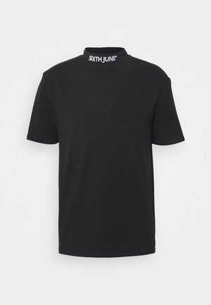 HIGH NECK TEE - T-shirt con stampa - black