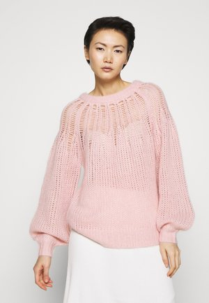 FRANKI YOKE SWEATER - Strikkegenser - powder