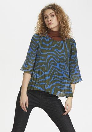 DHZITHA  - Blouse - blue zebra print