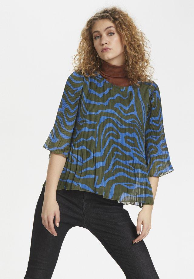 DHZITHA  - Bluzka - blue zebra print