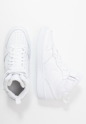 COURT BOROUGH MID UNISEX - Korkeavartiset tennarit - white