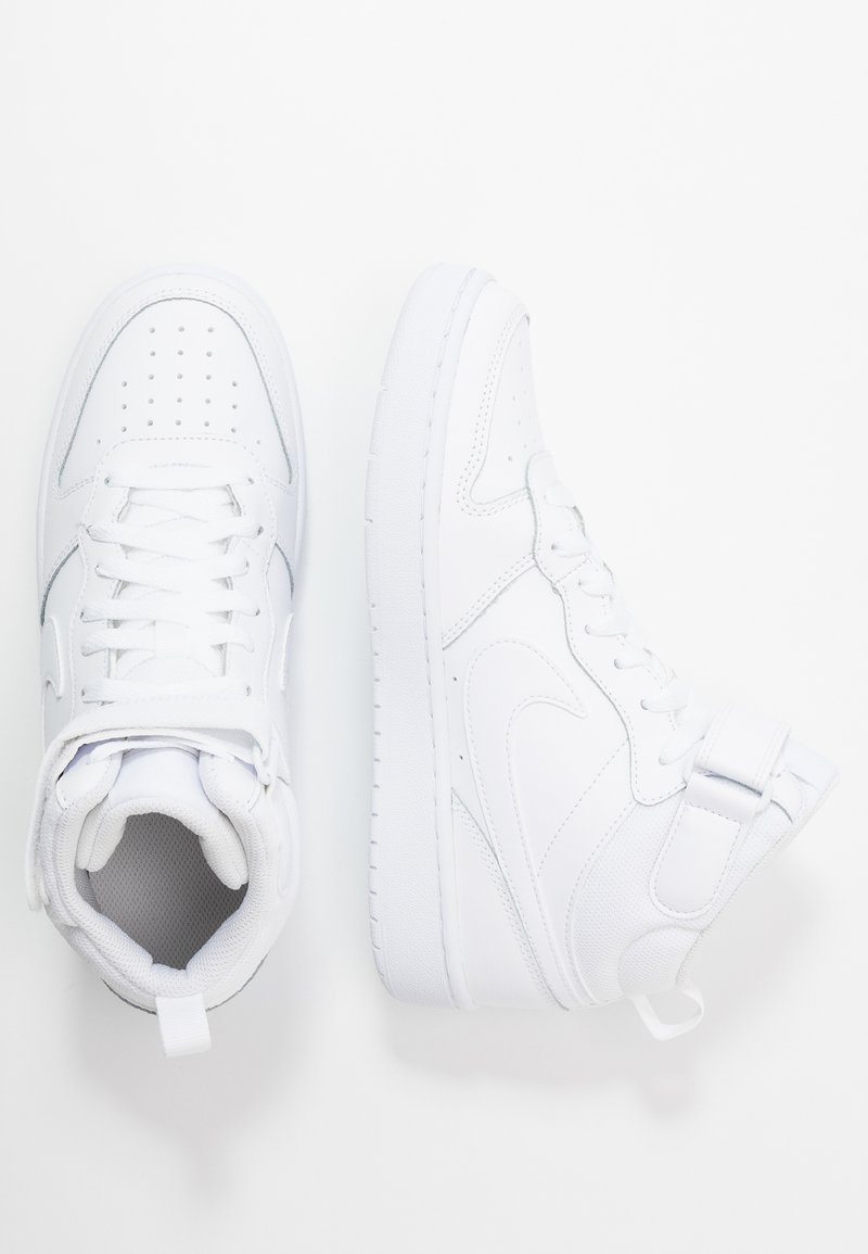 Nike Sportswear - COURT BOROUGH MID UNISEX - Høye joggesko - white