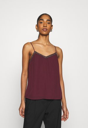 VMGRAVITY V NECK BEAD SINGLET - Top - winetasting