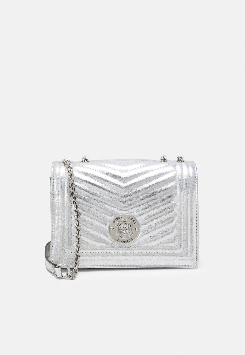 Guess - LIDA CONVERTIBLE XBODY FLAP - Handbag - silver-coloured