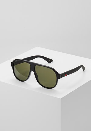 Sunglasses - black/black/green