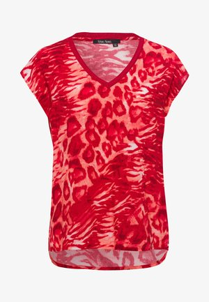 Blouse - red varied