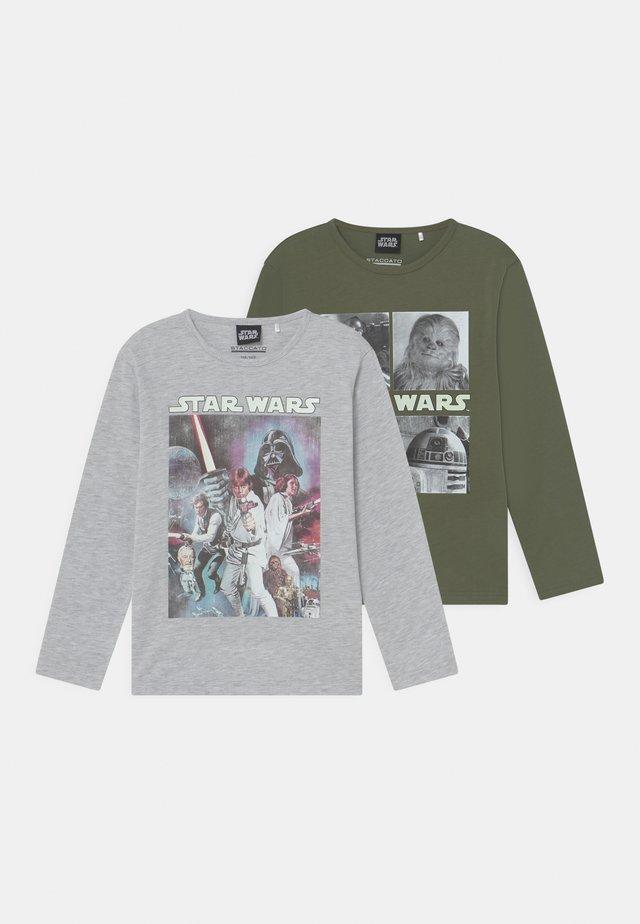 STAR WARS 2 PACK - Longsleeve - khaki/mottled