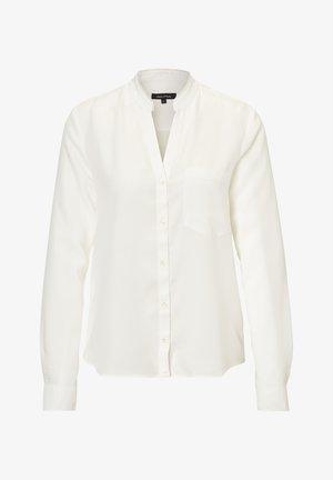 BLOUSE ROUND NECK WITH FRINGES - Overhemdblouse - white