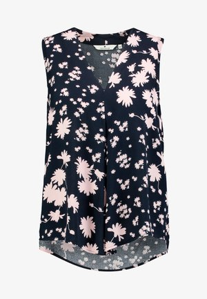BLOUSE SLEEVELESS WITH PRINT - Bluser - navy/blue