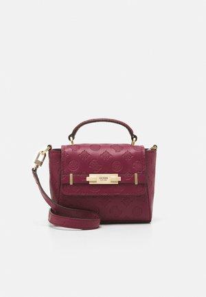 BEA MINI TOP HANDLE FLAP - Handbag - plum