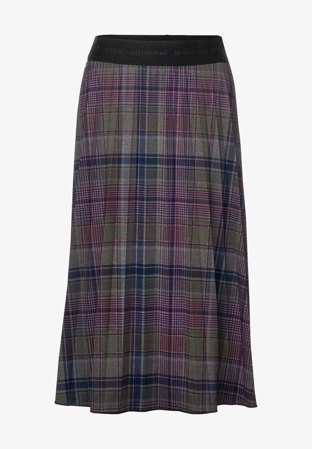MIT KARO - A-line skirt - grün