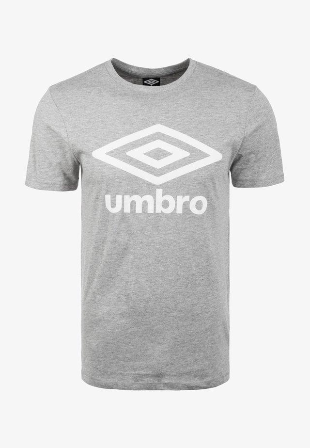 LARGE LOGO TEE - Print T-shirt - grey marl