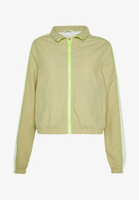 Summer jacket - concrete/electriclime