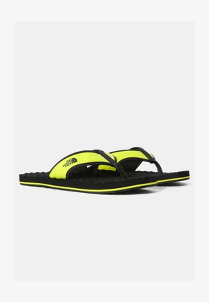 M BASE CAMP  II - T-bar sandals - tnfblack/sulphurspringgrn