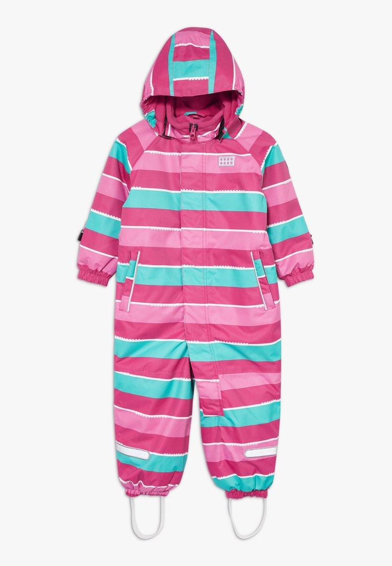 LEGO Wear - LWJUNIN 703 SNOWSUIT - Snowsuit - dark pink
