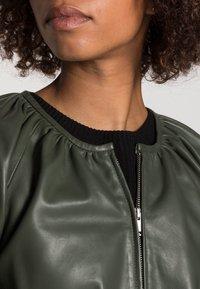 InWear - CADIX JACKET - Leather jacket - green olive - 4
